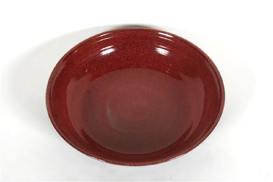 Winthrop Byers, Red & Black Ceramic Bowl - 2