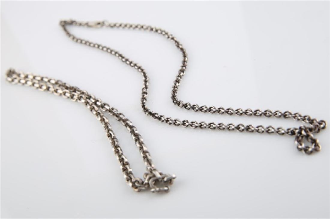 Lot of Two Sterling Silver Chain Necklaces