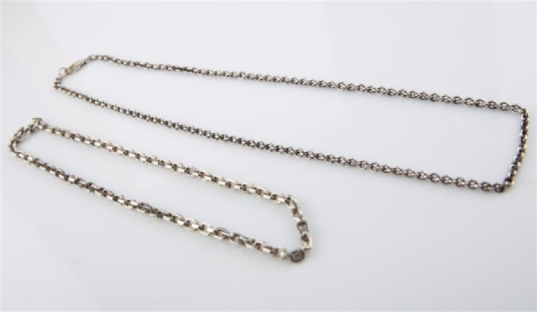 Lot of Two Sterling Silver Chain Necklaces - 2