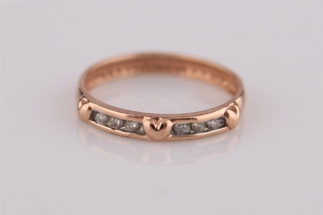 10kt Rose Gold Heart Ring with Diamonds
