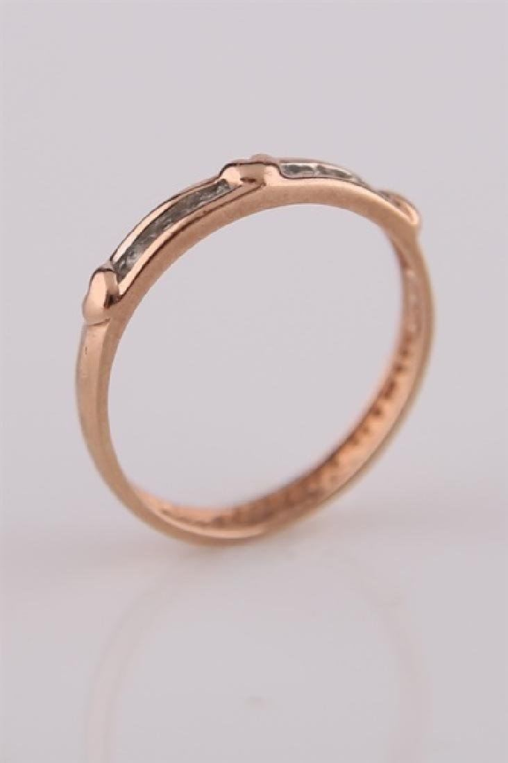 10kt Rose Gold Heart Ring with Diamonds - 2