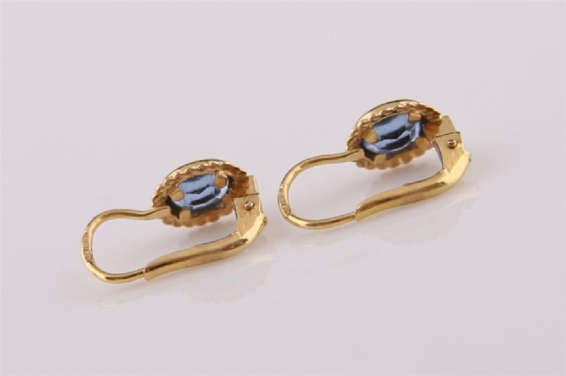 Pair of 18kt Yellow Gold and Citrine Earrings - 3