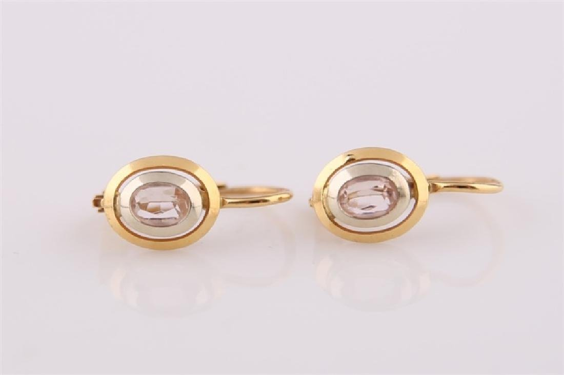 Pair of 18kt Yellow Gold Lever Back Earrings - 2