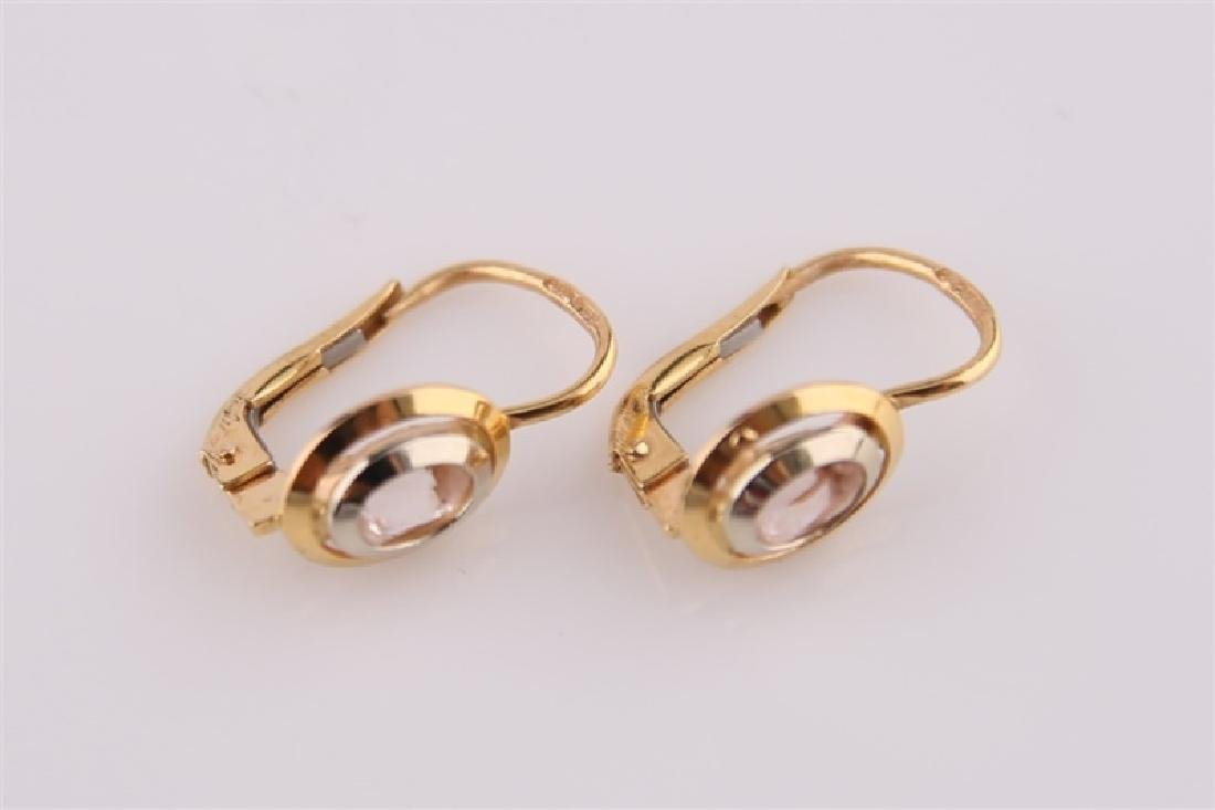 Pair of 18kt Yellow Gold Lever Back Earrings - 3