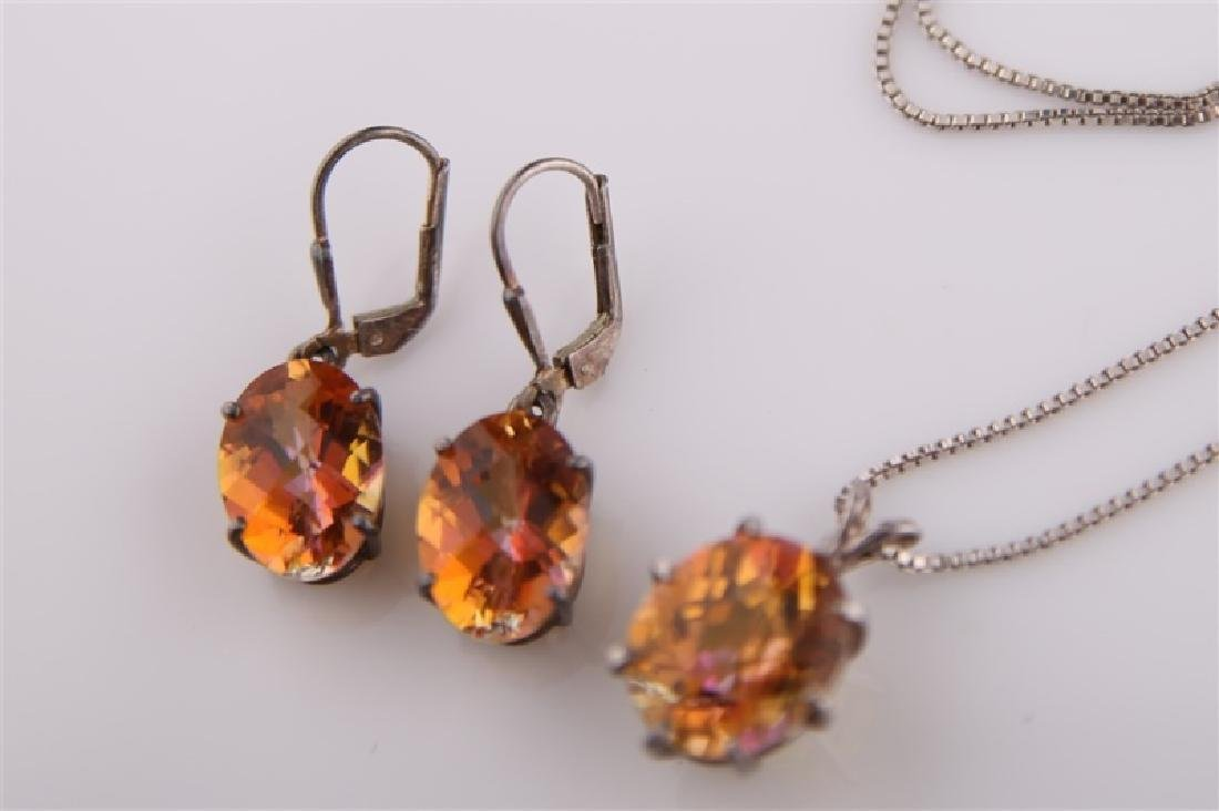 Three Piece Mystic Topaz Set - 3