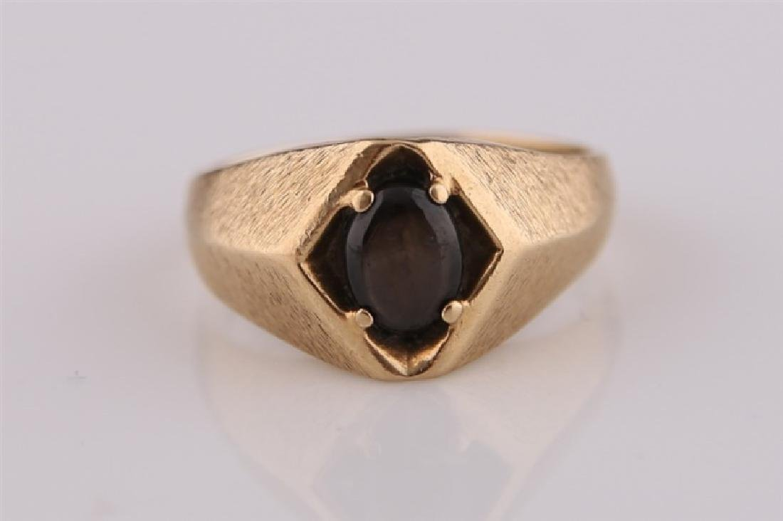 10kt Yellow Gold Ring with Brown Stone
