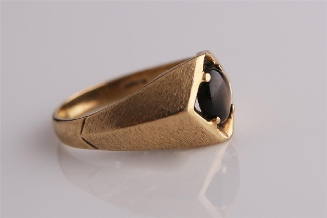10kt Yellow Gold Ring with Brown Stone - 2