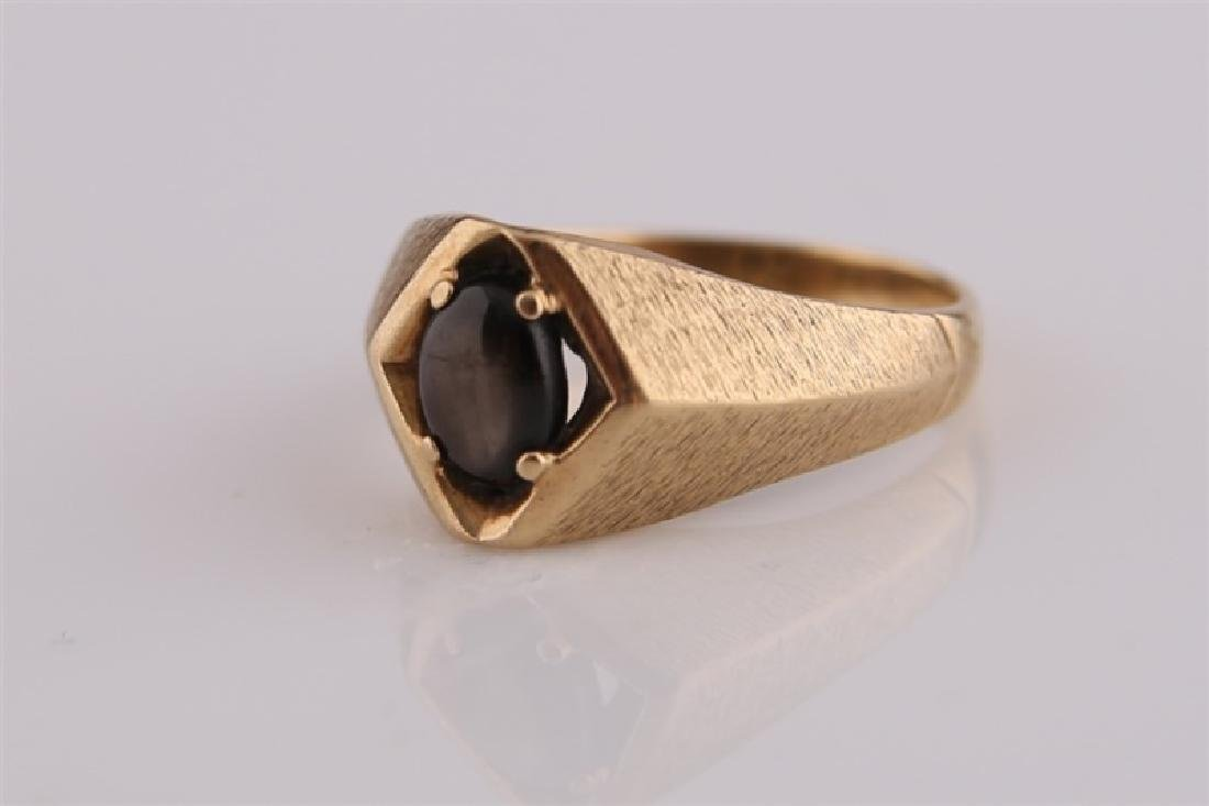 10kt Yellow Gold Ring with Brown Stone - 3