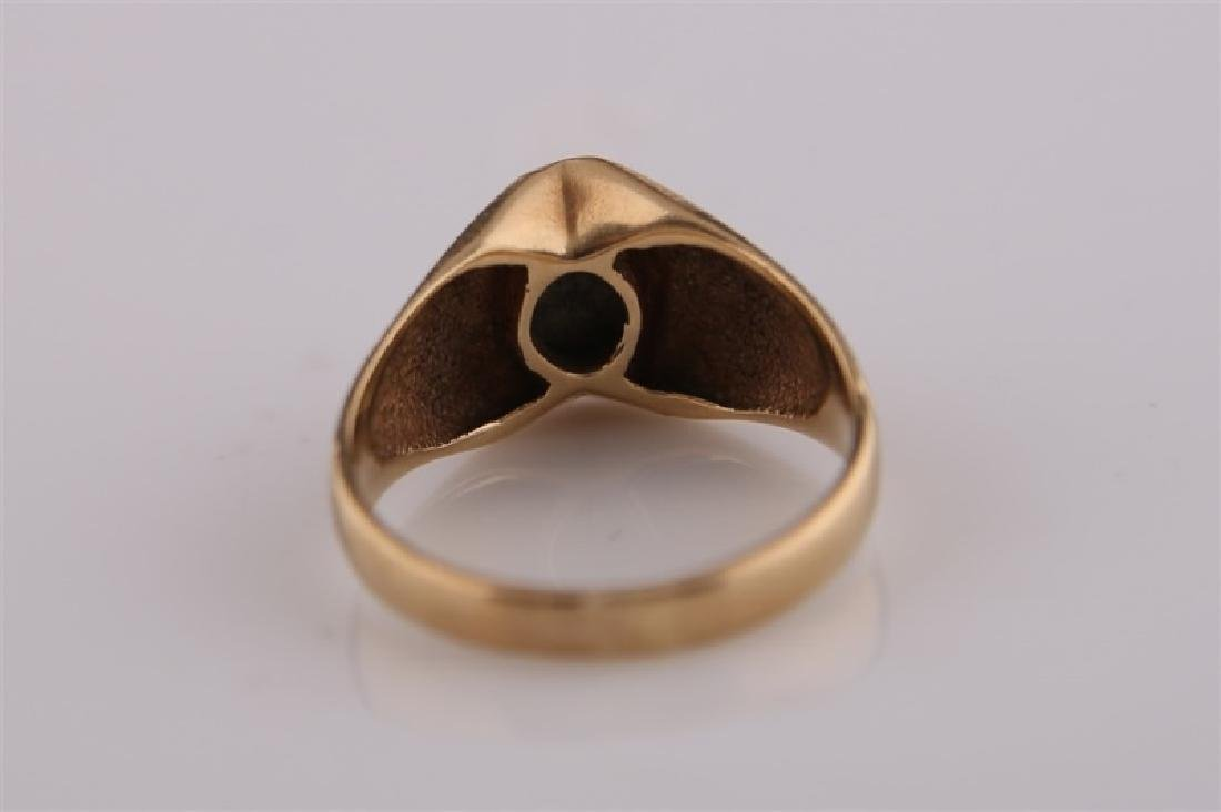 10kt Yellow Gold Ring with Brown Stone - 7
