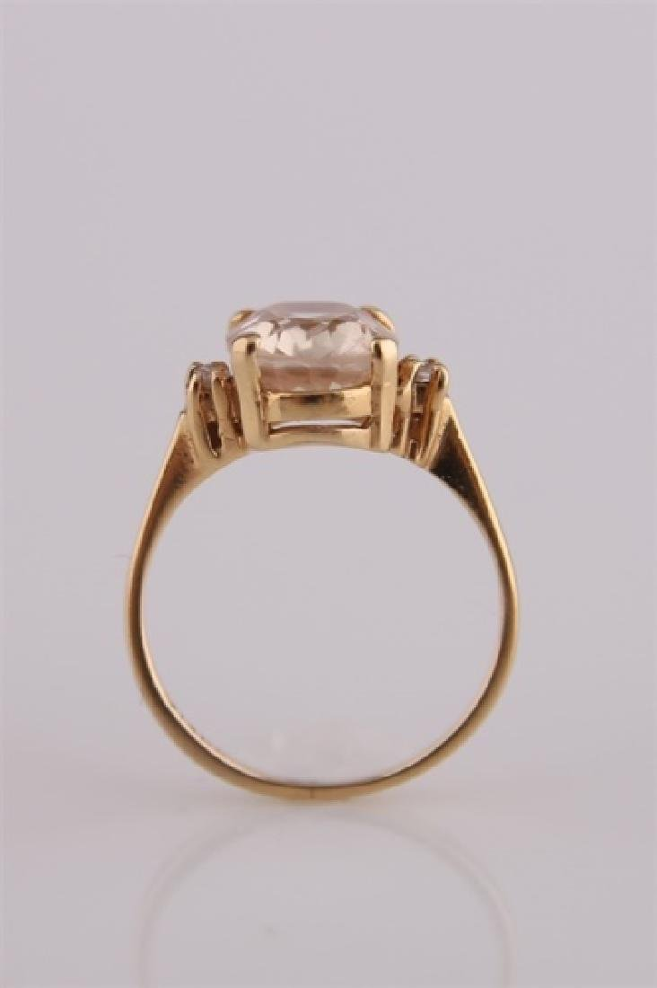 14KP Yellow Gold Ring with Morganite - 2