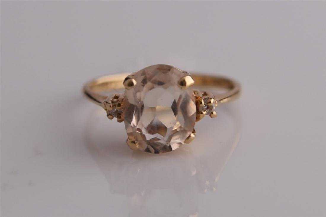 14KP Yellow Gold Ring with Morganite - 3