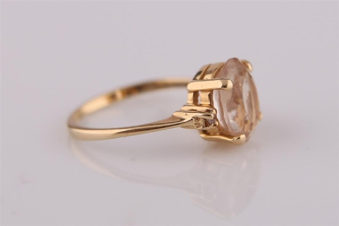 14KP Yellow Gold Ring with Morganite - 4