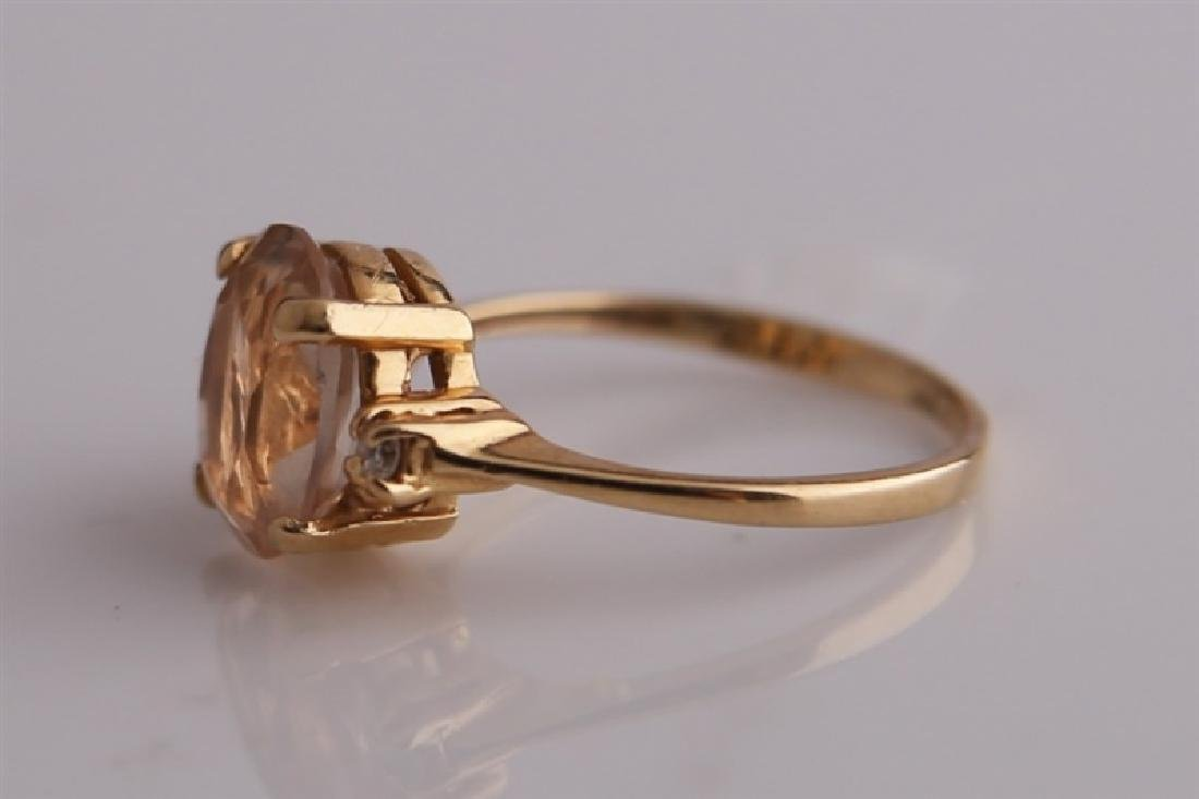 14KP Yellow Gold Ring with Morganite - 5