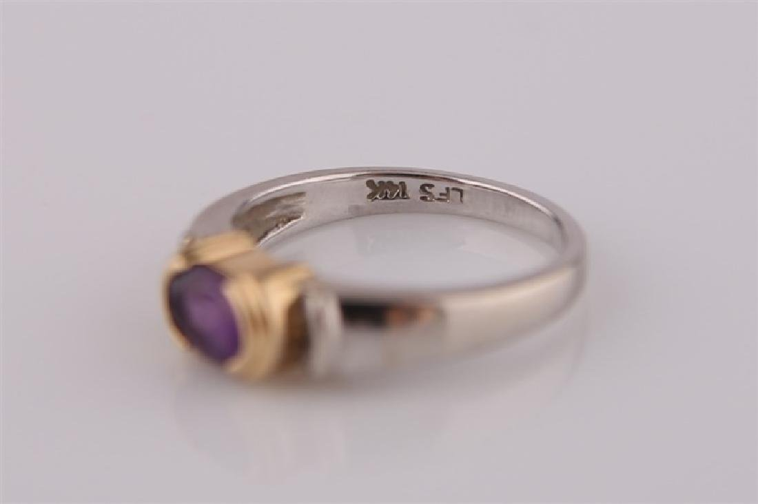 14kt White and Yellow Gold Amethyst Ring - 5
