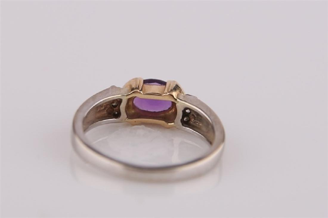 14kt White and Yellow Gold Amethyst Ring - 6