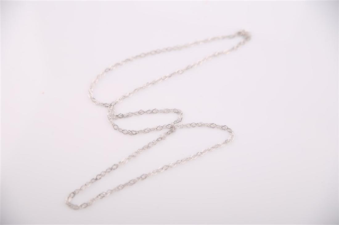14kt White Gold Chain Necklace - 2