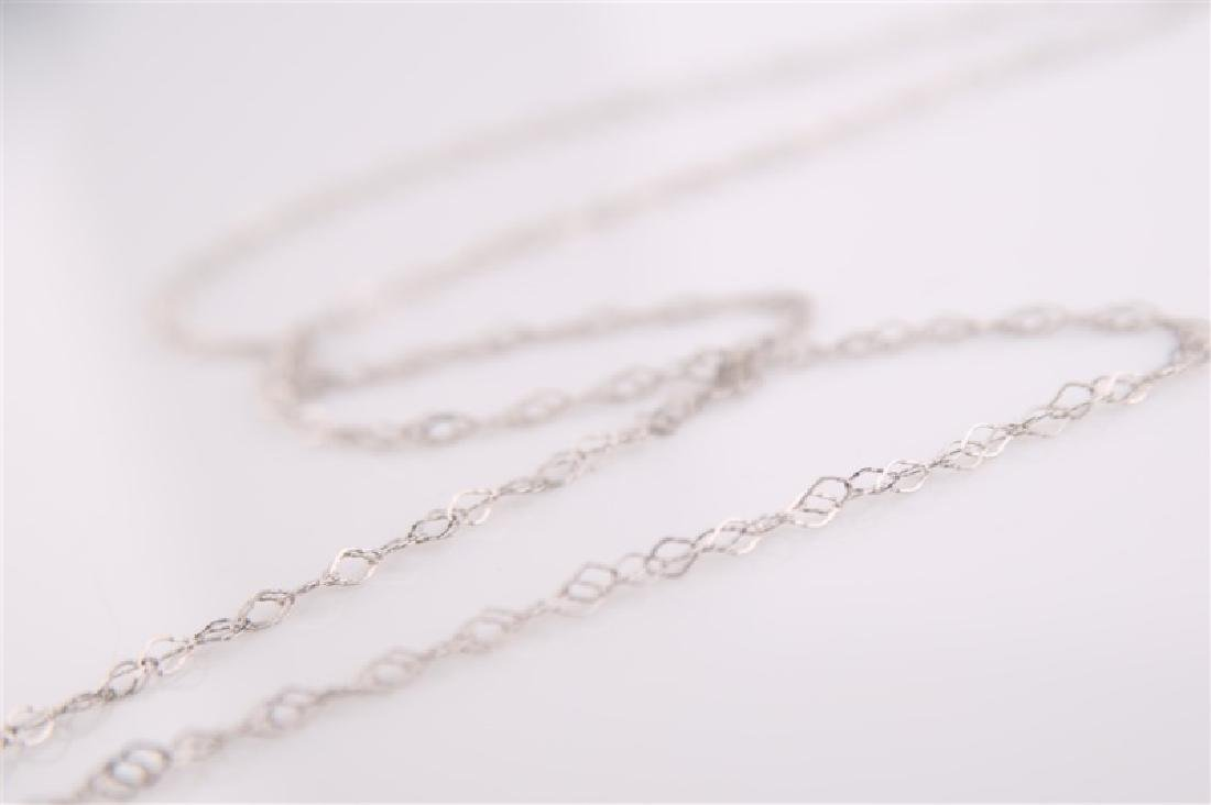 14kt White Gold Chain Necklace - 3