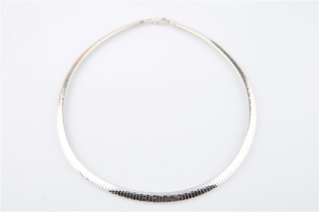 Sterling Silver Italian Omega Chain Necklace