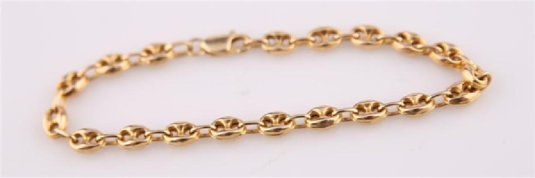 14k Italian Chain Link Bracelet