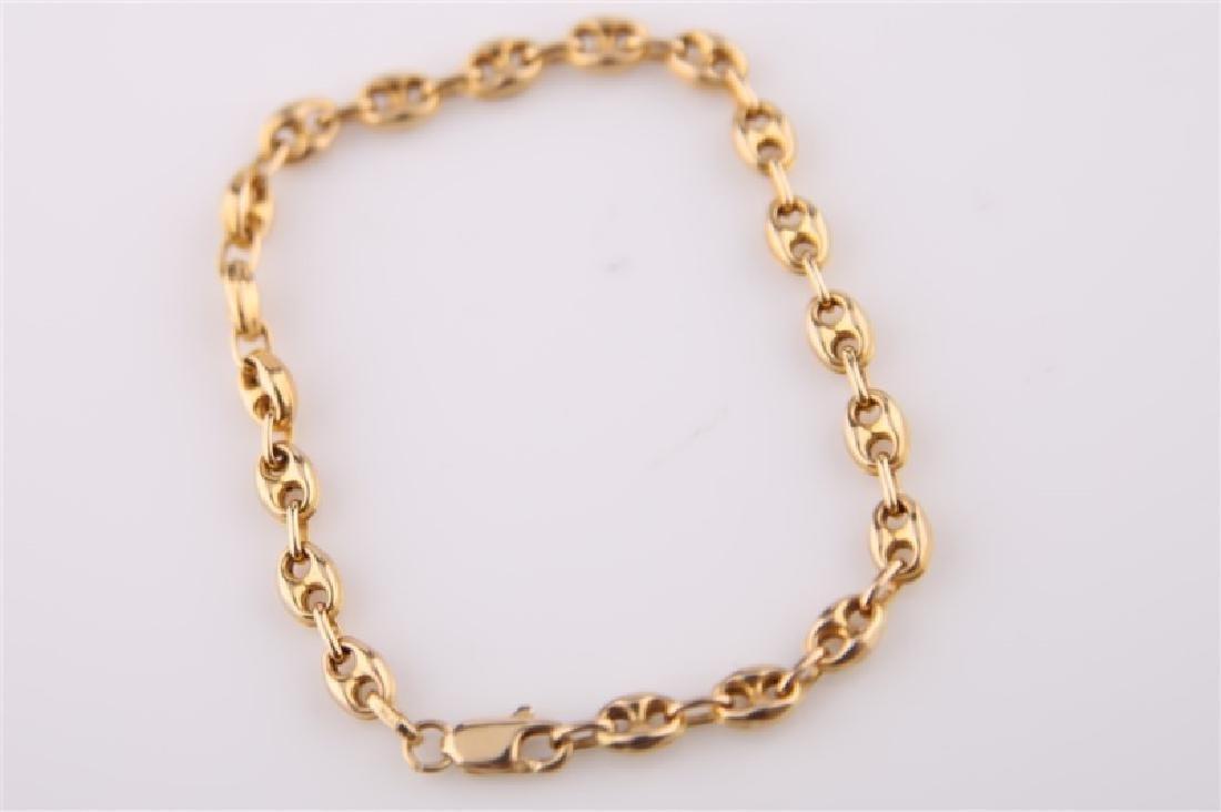 14k Italian Chain Link Bracelet - 4