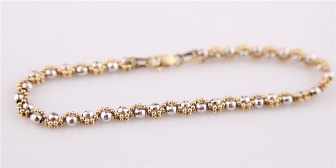 14kt Gold Disco Ball Bracelet