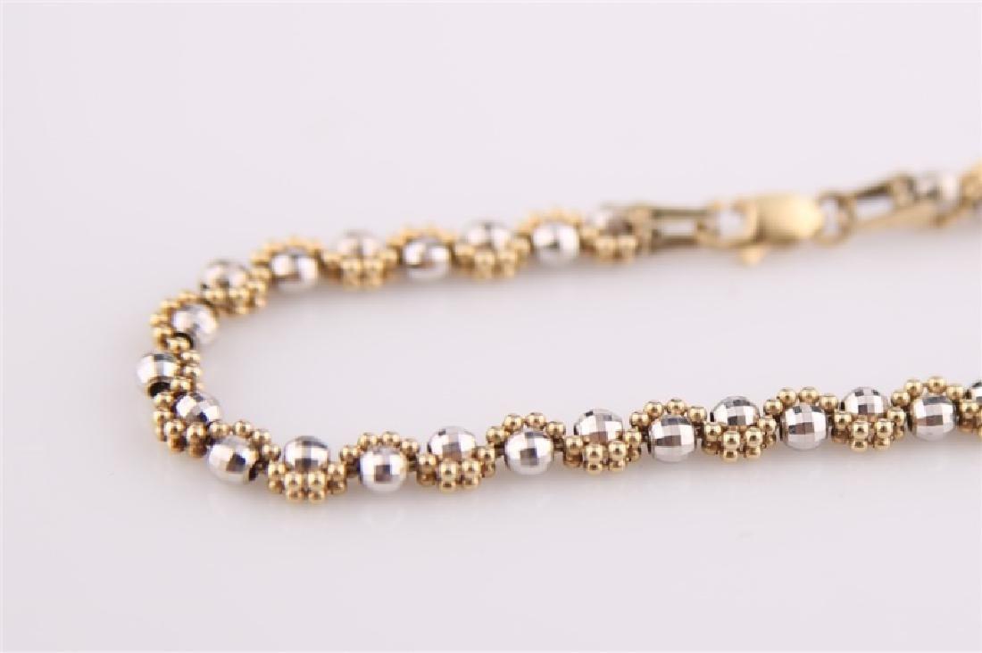 14kt Gold Disco Ball Bracelet - 2