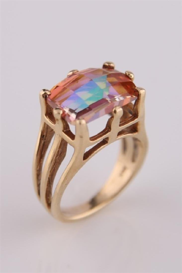14kt Yellow Gold and Mystic Topaz Ring