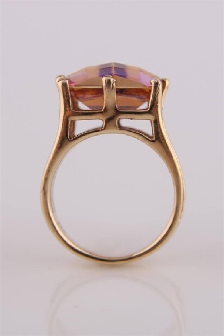 14kt Yellow Gold and Mystic Topaz Ring - 3