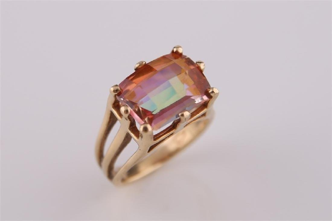 14kt Yellow Gold and Mystic Topaz Ring - 5