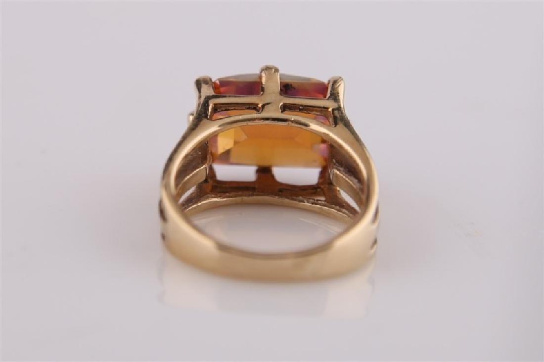14kt Yellow Gold and Mystic Topaz Ring - 6