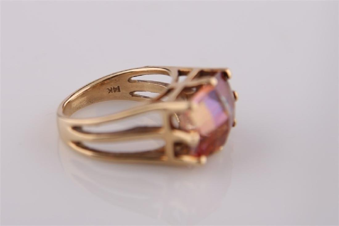 14kt Yellow Gold and Mystic Topaz Ring - 7