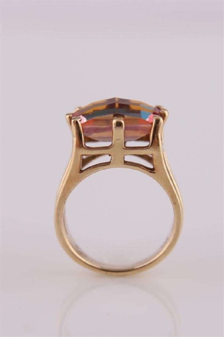 14kt Yellow Gold and Mystic Topaz Ring - 8