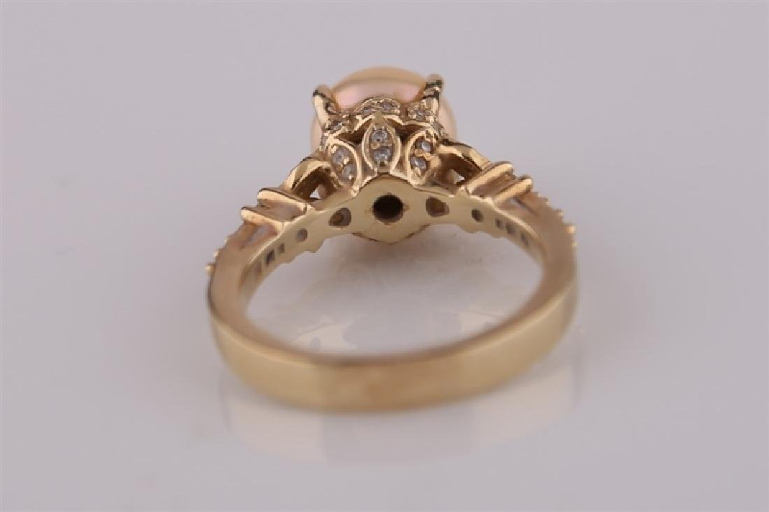 14kt Yellow Gold and Pearl Ring - 2