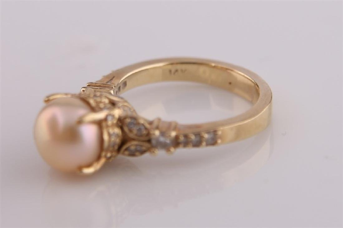 14kt Yellow Gold and Pearl Ring - 3