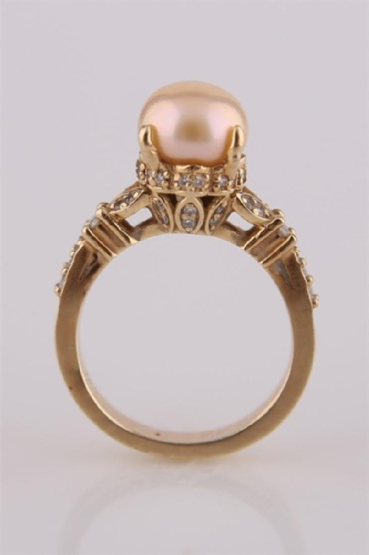 14kt Yellow Gold and Pearl Ring - 4