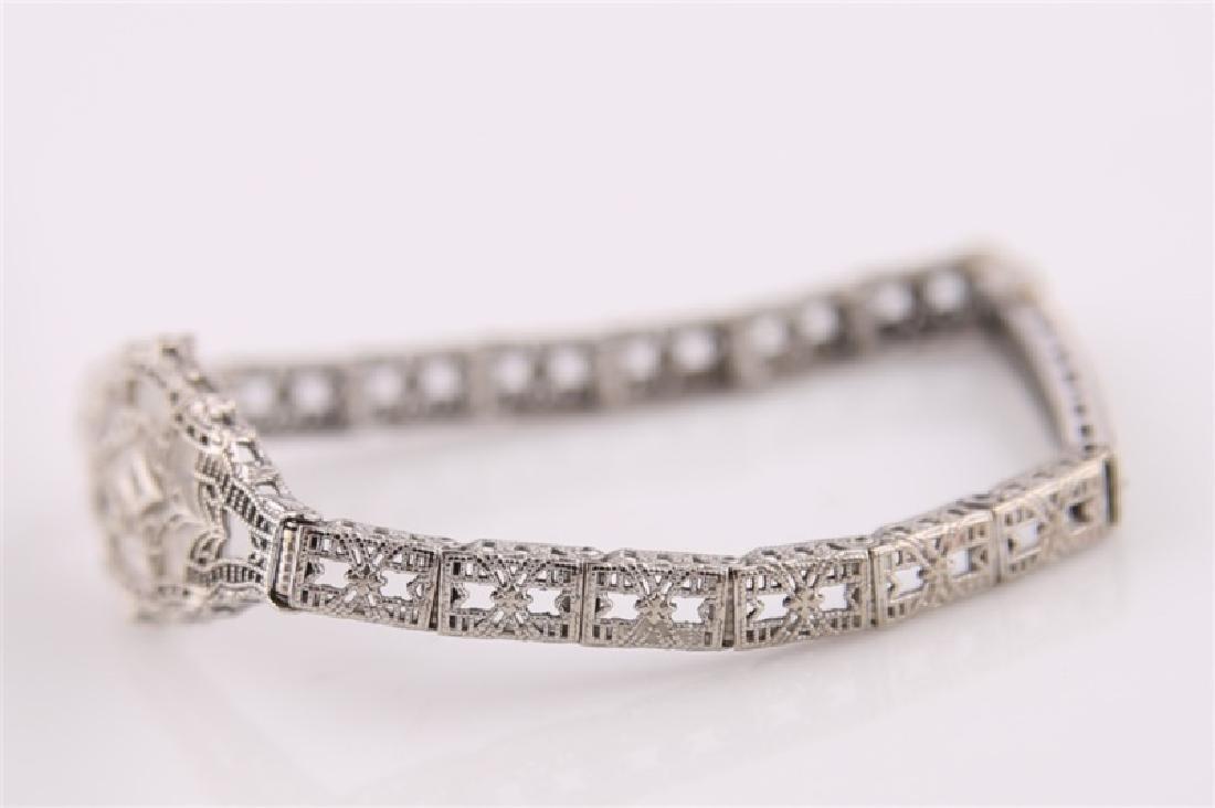 10kt White Gold Filligree Bracelet - 2
