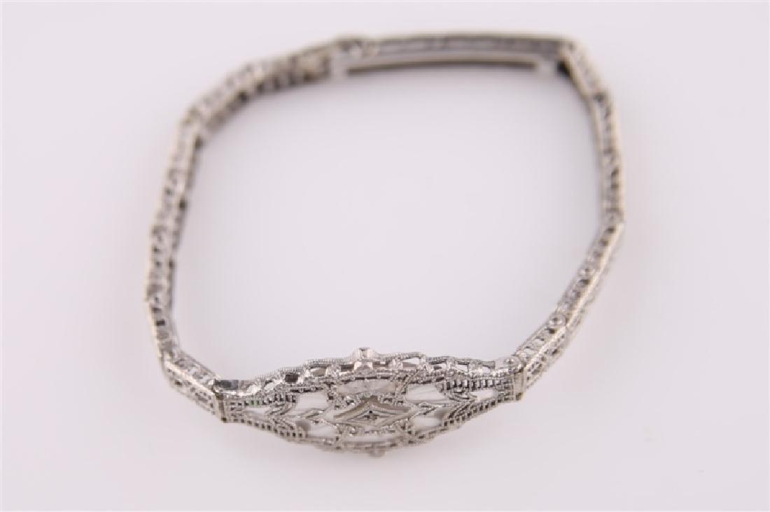 10kt White Gold Filligree Bracelet - 3