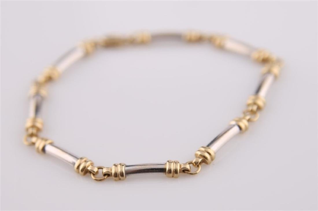 14kt Yellow and White Gold Bracelet - 4