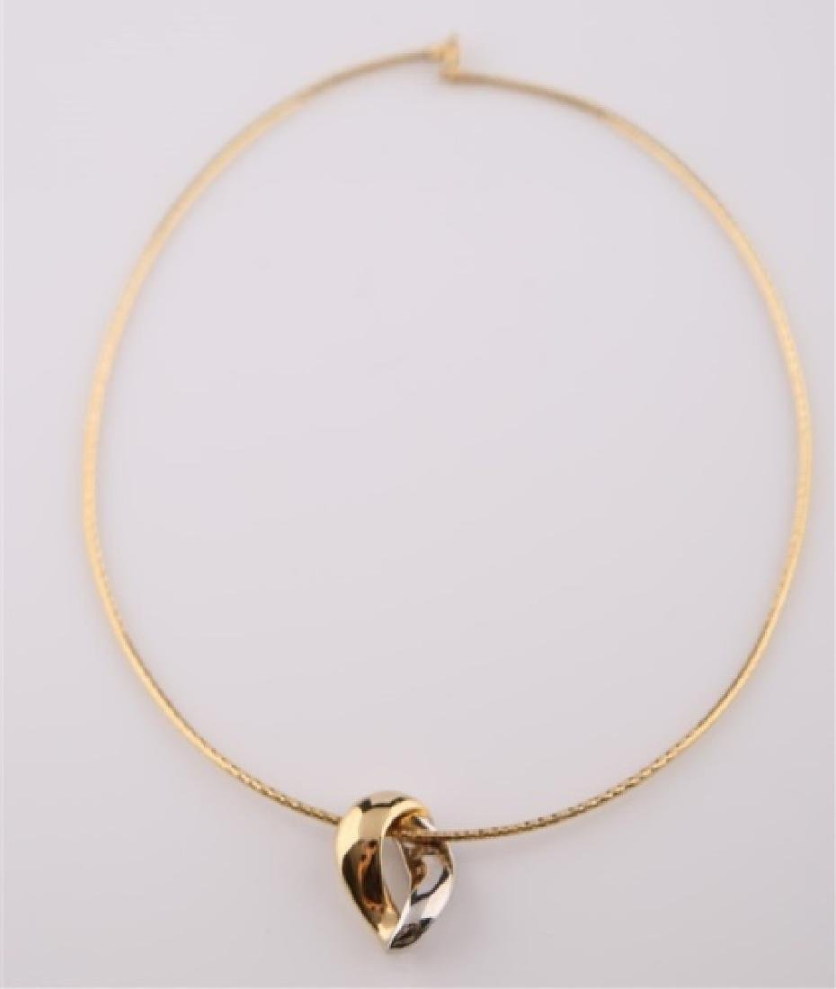 14kt Yellow and White Gold Collar Necklace
