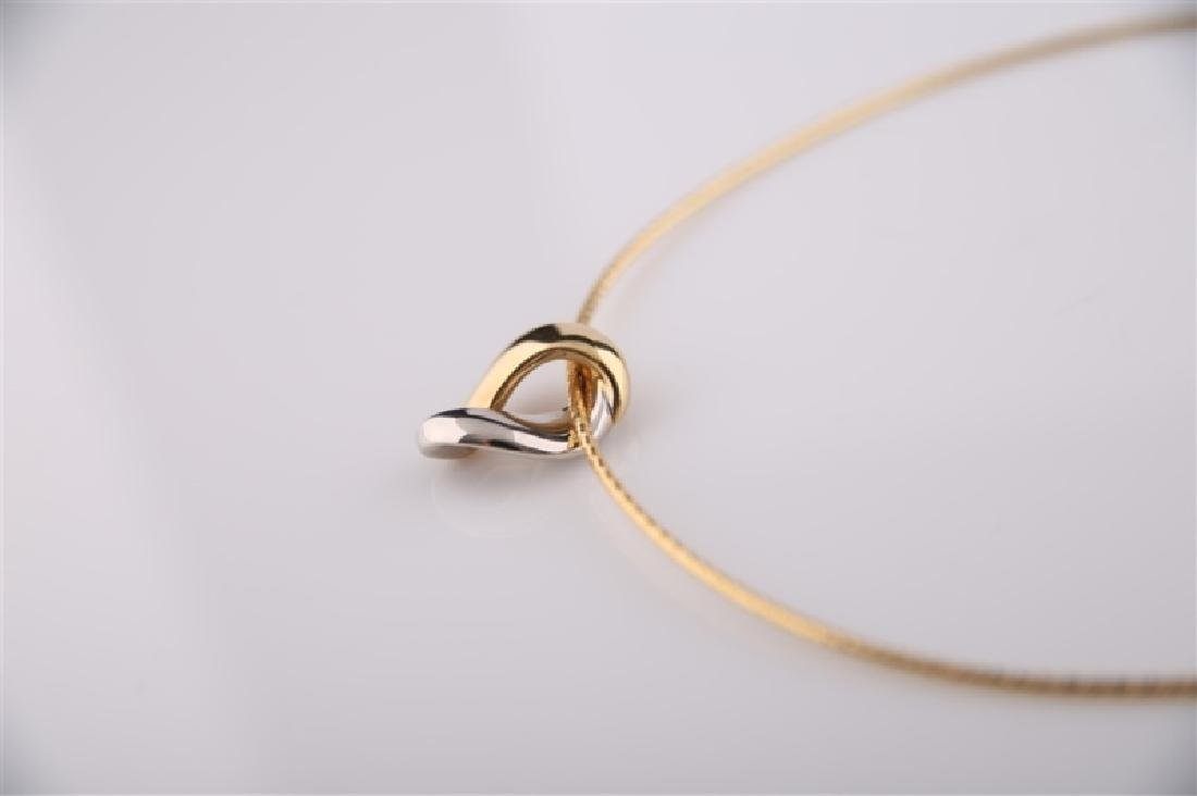 14kt Yellow and White Gold Collar Necklace - 2