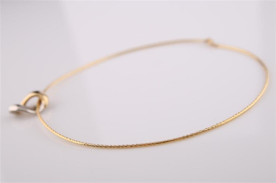 14kt Yellow and White Gold Collar Necklace - 3