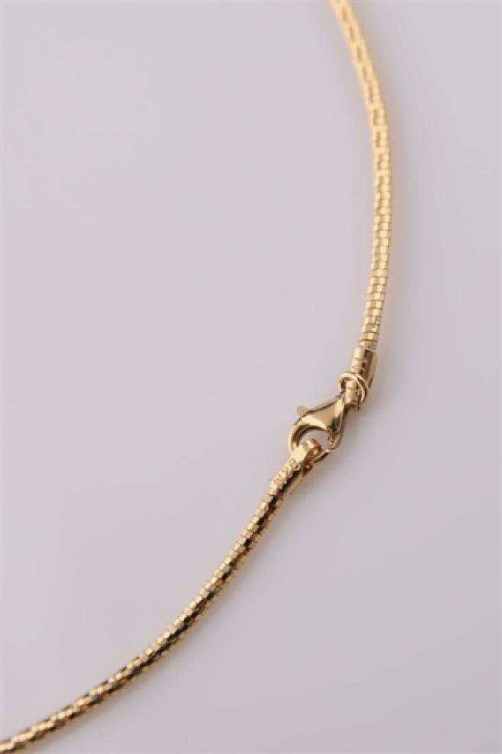 14kt Yellow and White Gold Collar Necklace - 4