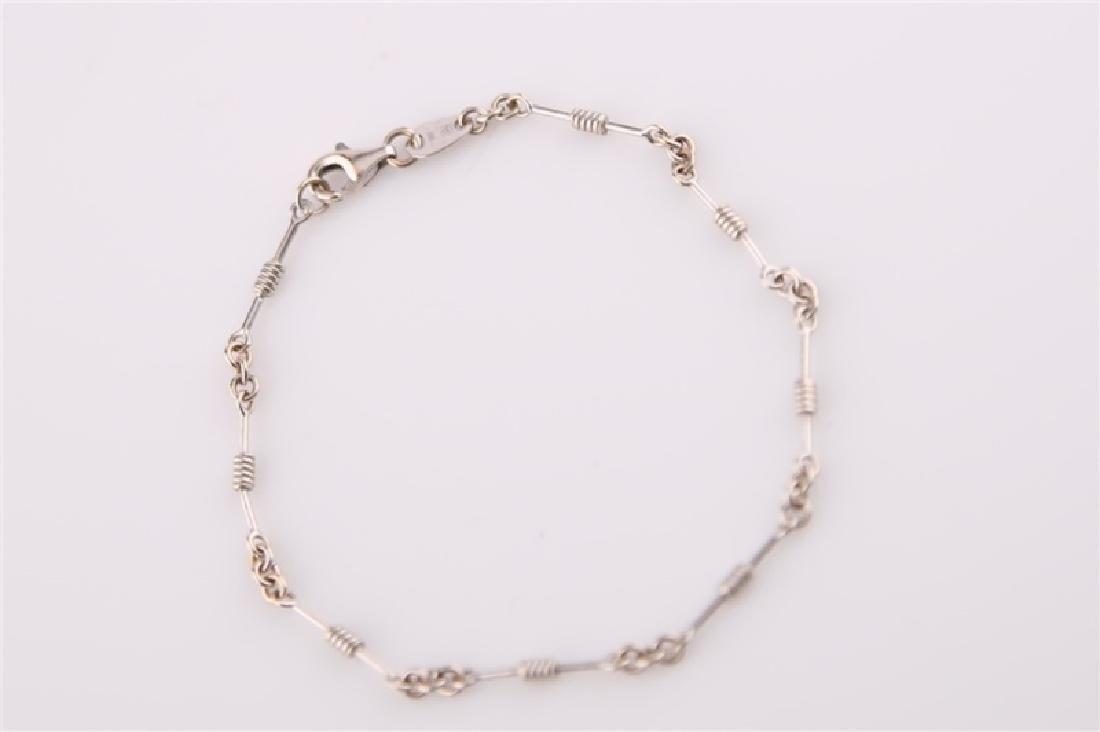 18kt Italian White Gold Bracelet