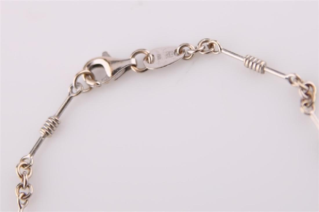 18kt Italian White Gold Bracelet - 2
