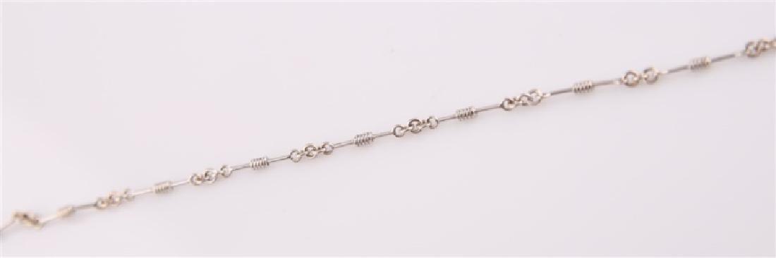 18kt Italian White Gold Bracelet - 3
