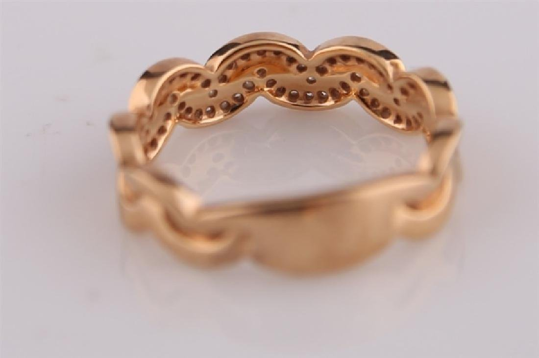 18kt Rose Gold Ring with Diamond Clusters - 3