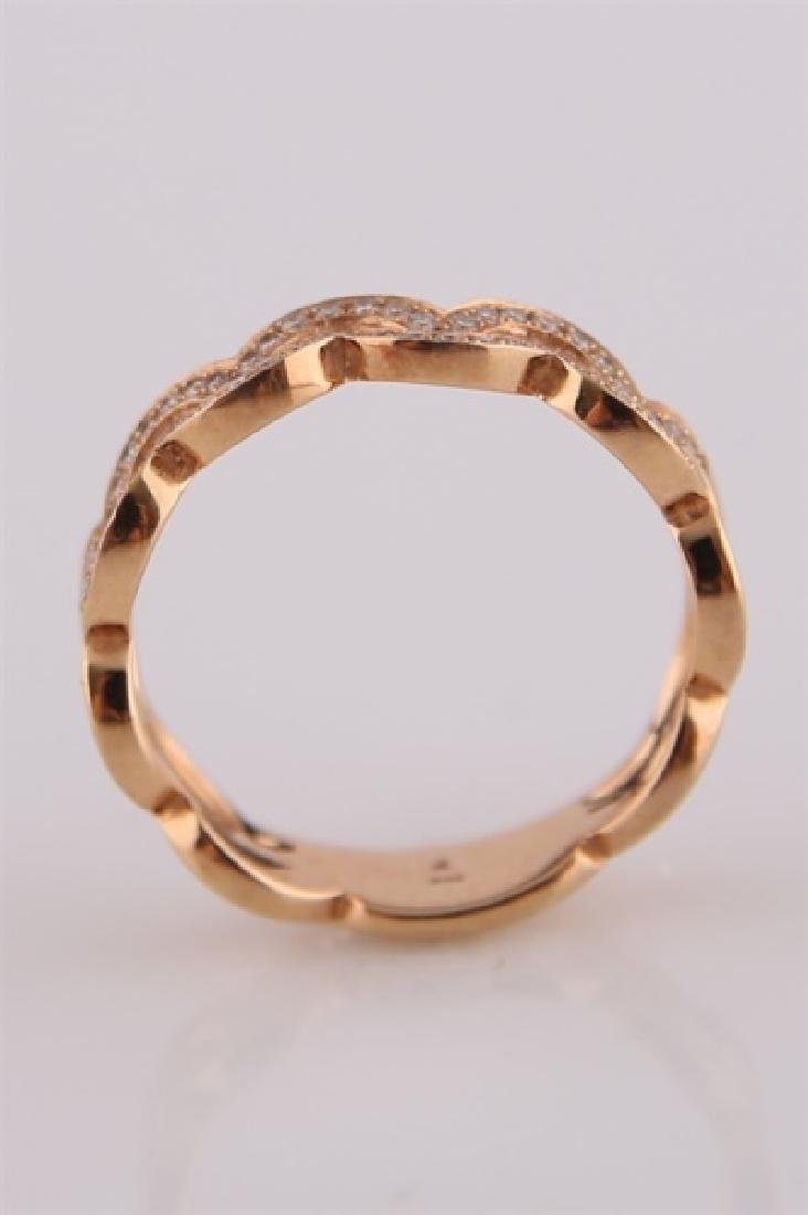 18kt Rose Gold Ring with Diamond Clusters - 4