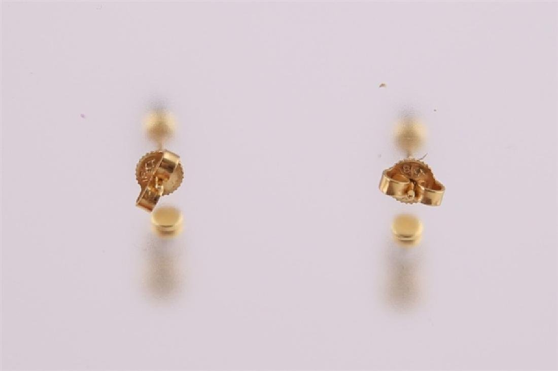 18kt White and Yellow Gold Earrings with Diamond - 4