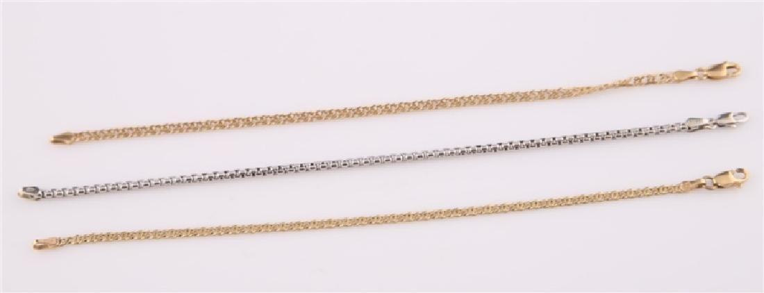 Lot of Three 14kt Gold Bracelets