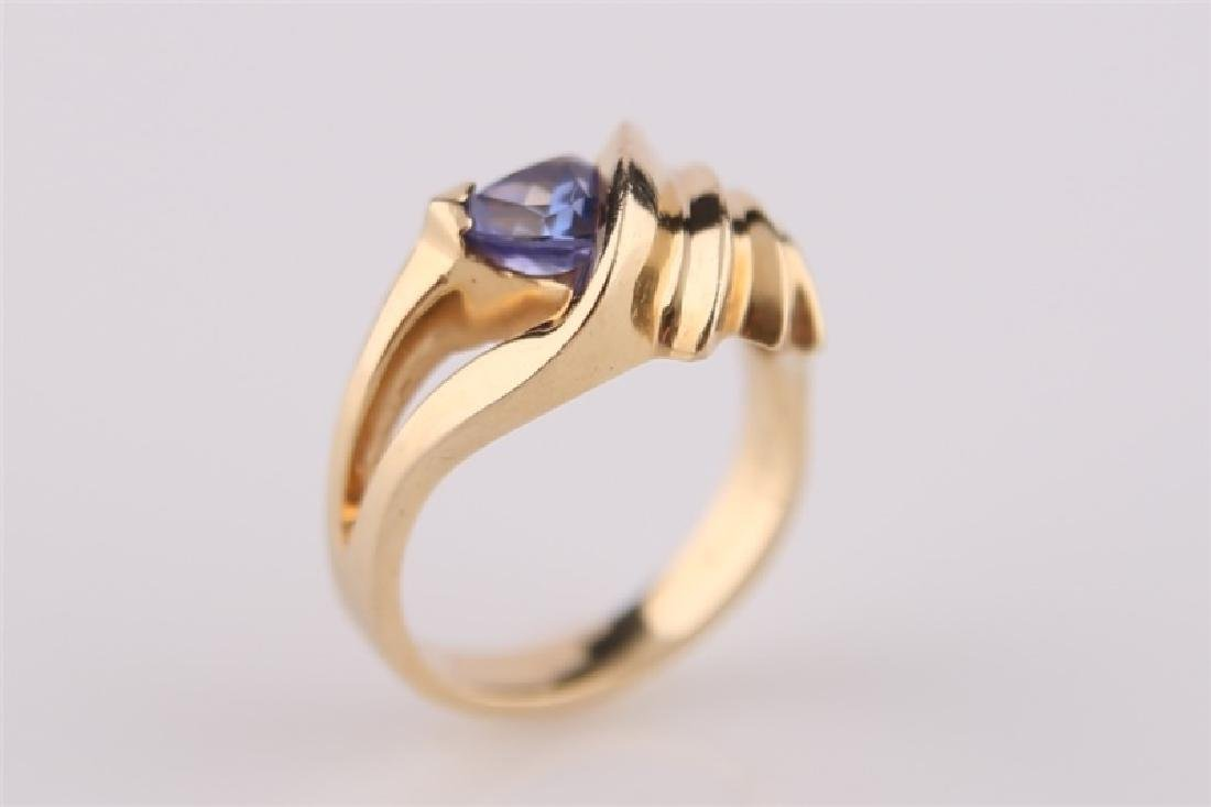 14kt P Yellow Gold Ring with Tanzanite